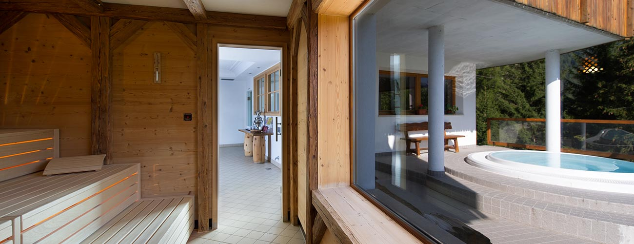 Spa from Hotel Gran Mugon: insight into the sauna and hot tub