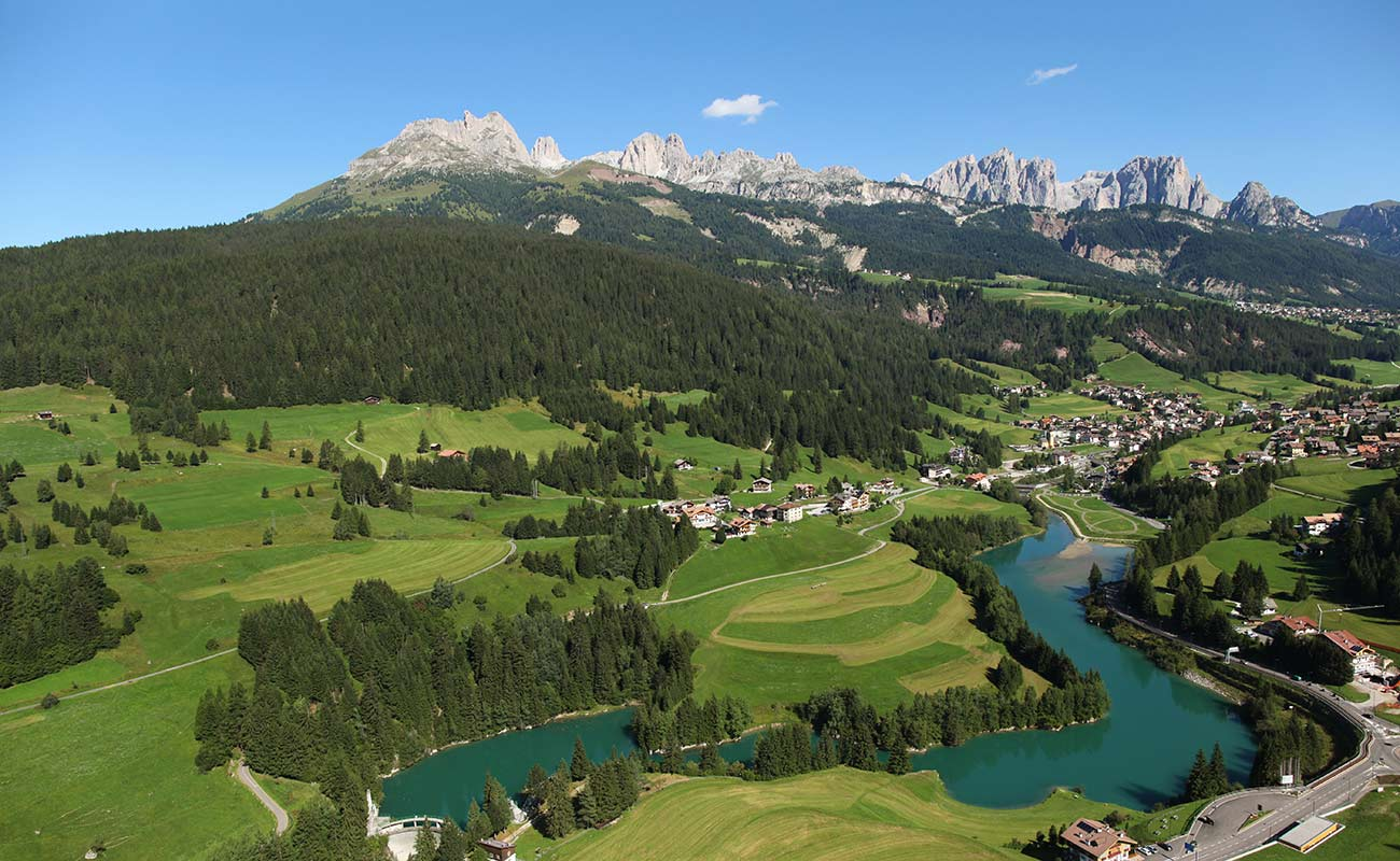 Vigo di Fassa and the surrounding area: the countryside and mountains in the summer